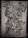 ジョジョの奇妙な冒険 主人公 鉛筆画
