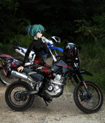 俺のバイクにミクさんが乗ってくれた件