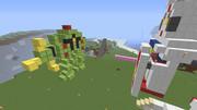 【Minecraft】ガンダム(?)VSゾック(?)