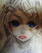 【小6が描いてみた】右肩の蝶 リン
