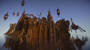 【Minecraft】防衛せよ!城塞都市を築く 第6幕 『防龍堤』 海辺から、夕方の城塞都市