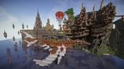 【Minecraft】防衛せよ!城塞都市を築く 第6幕 『防龍堤』 謎の魚鳥船