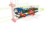 物理演算で走るバスの一時停止用ダミーボーンを作ってみた