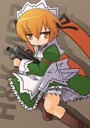 看板娘と銃