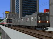 【RailSim】 高層ビル街での離合