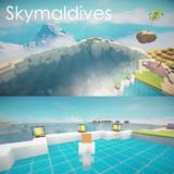 【Minecraft】 空の高いところにあるリゾート島