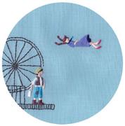 今日の刺繍 『天空の城ラピュタ』