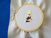 今日の刺繍 『鏡音リン』