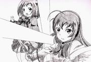 エミリアとちーちゃんを描いてみた!!