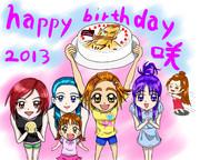 Happy birthday 咲!