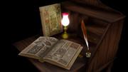 本とランプ