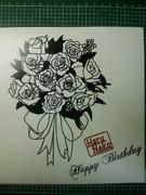 切り絵 Happy Birthday