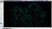 CAD絵2 ゆゆ式 【円弧が描ければ何でも描ける】
