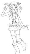 【模写】春香さん(線画練習)