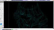 CAD絵3 オオカミさん 【円弧が描ければ何でも描ける】