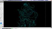 CAD絵4 ガハラさん 【円弧が描ければ何でも描ける】