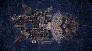 【Minecraft】 雪国の王国を空から眺める ( 夜 )