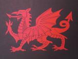 【切り絵】ウェールズの旗