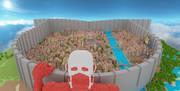 【Minecraft】進撃の巨人 シガンシナ区再現プロジェクト 初の全景撮影 13/8/12