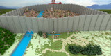【Minecraft】進撃の巨人 シガンシナ区再現プロジェクト全景(内地側) 13/8/13
