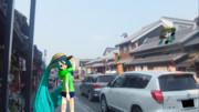 川越の街を行く。