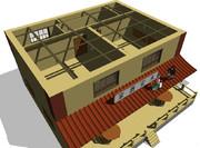 MMD建物・酒場、制作状況3