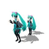 【GIFアニメ】 Neko Sisters Sneak