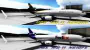 アメリカンフレーター ~FDX&UPS MD-11(風)  リペイント~