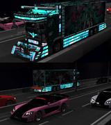 夜の高速道路にて。