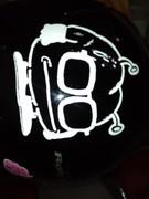 後輩のヘルメットに落書きしてみた。2!!(ヘルメットへの手書きの為写真での投稿をお許しください)