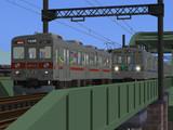 【RailSim】鉄橋上でのすれ違い