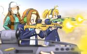 律っちゃん、XM8射撃体験!