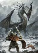 雪山のドラゴン