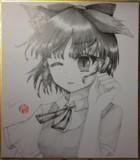 狐耳チルノの鉛筆画