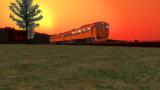 夕日の列車