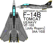 F-14B Tomcat US NAVY VF-103 Jolly Rogers