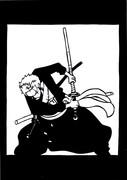 【切り絵】ワンピのゾロさん