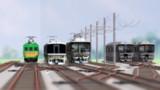 電車区内の並び