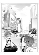 背景練習 渋谷スクランブル交差点