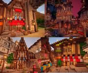 【minecraft】オルタンシア城下町つくってるとこ