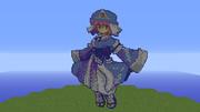 【Minecraft】 西行寺幽々子 ドット絵