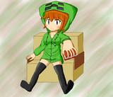 【minecraft】ニーハイクリーパーカー