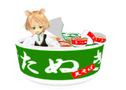 【MMD】たぬきときつねっぽい食べ物