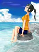 海を眺めながら・・・