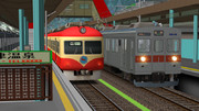 【RailSim】 長電同士のすれ違い
