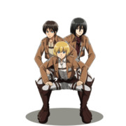 【GIFアニメ】幼なじみ3人組がぐるぐる回ってるだけ