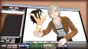【進撃のMMD】リコさんとチビエレンゲくんが可愛かったので
