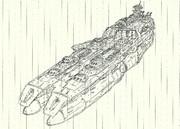 ゲルバデス級航宙戦闘母艦「手描き」