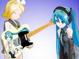 【MMD】ミクギター