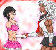 今話題の筋肉系女子2人が手を組んだようです。